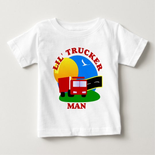 Kids Little Trucker Man Shirt