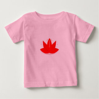 Kids little tshirt with Lotus Flower Red