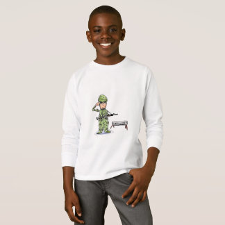 KIDS' LONG SLEEVE T-SHIRT - SOLDIER AT CHECK POINT