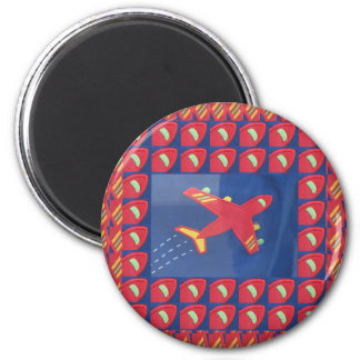Kids Love Aeroplane Aircraft Flight Travel Holiday 2 Inch Round Magnet
