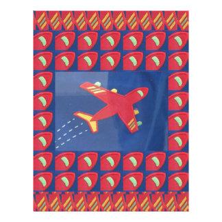 Kids Love Aeroplane Aircraft Flight Travel Holiday Customized Letterhead