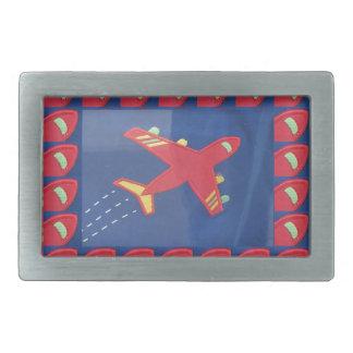 Kids Love Aeroplane Aircraft Flight Travel Holiday Rectangular Belt Buckle