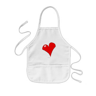 Kid's Love of Cooking Grilling Red Heart Kids Apron
