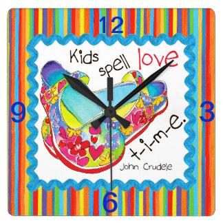 Kids Love wall clock