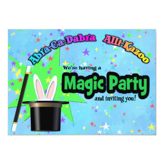 Kids Magic Party Card