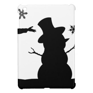 Kids Making Snowman Christmas Silhouette Scene Case For The iPad Mini
