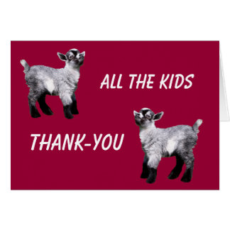 Kids Miniature Goat Thank-you Card