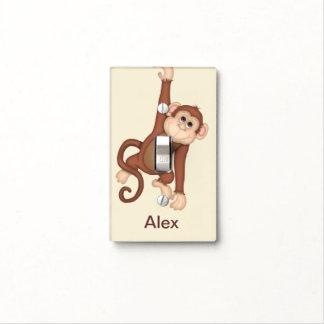 Kids Monogram Monkey Light Switch Covers