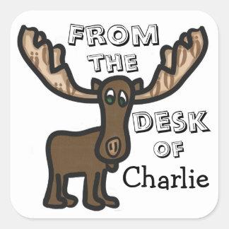Kid's Moose stationary sticker