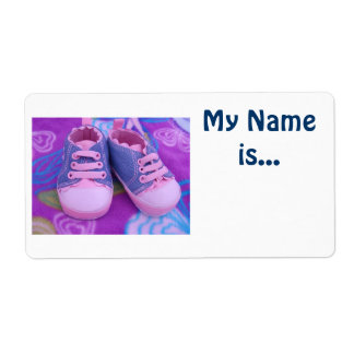 Kid's Name Tags My Name is Baby Toddler Shoes Shipping Label