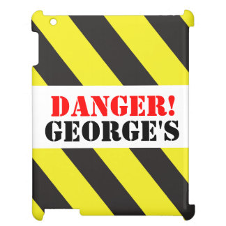 Kids named danger! warning ipad case