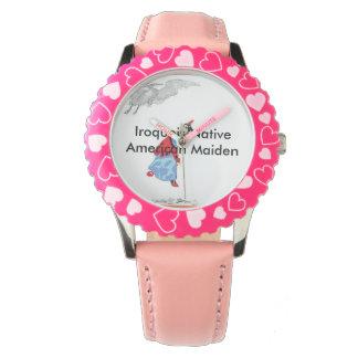 Kid's Native American Maiden Wrist Watch