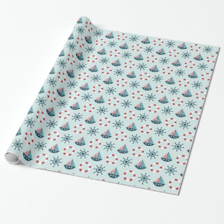 Kids nautical theme wrapping paper