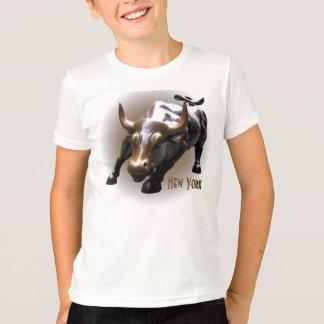 Kid's New York Shirt Bull Statue NY Souvenir Shirt