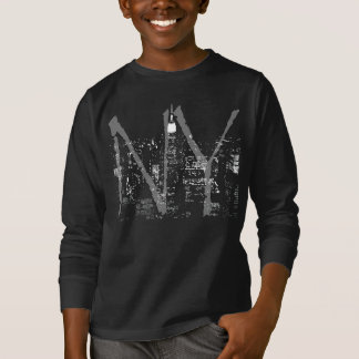 Kid's New York Shirt NY City Lights Souvenir Shirt