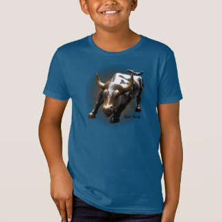 Kid's New York T-shirt Organic Bull Souvenir Shirt