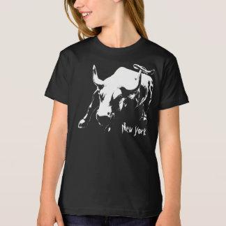Kid's New York T-shirt Organic Bull Souvenir Shirt