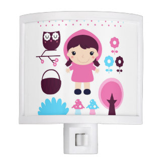 Kids night lamp with Wooden girl Night Lites