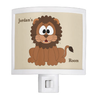 Kid's Night Lite Cute Baby Lion Smiling