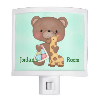 Kid's Night Lite Cute Baby Teddy Bear Giraffe