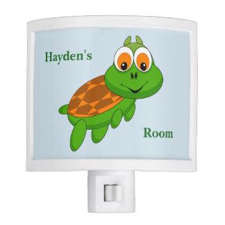 Kid's Night Lite Cute Baby Turtle Smiling