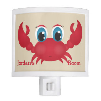 Kid's Night Lite Cute Happy Crab