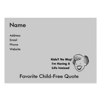 Kids No Way Business Card Templates