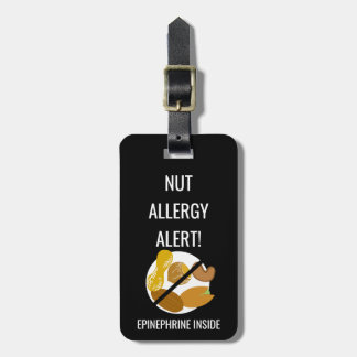 Kids Nut Allergy Alert with Epinephrine Image Luggage Tag