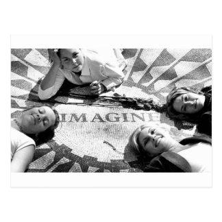 Kids on Imagine Circle Postcard