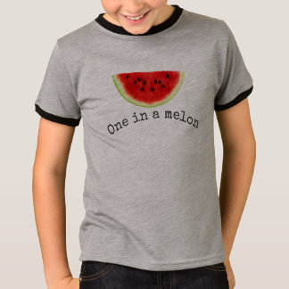 "Kid's ""one in a melon"" summer watermelon shirt 2"