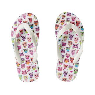 Kids Owl pattern flip flops