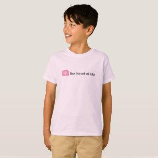 Kids Pale Pink T-Shirt with Heart of Ida Logo