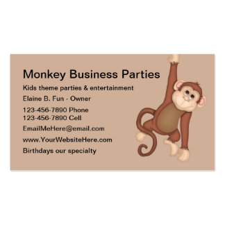 Kids Party Entertainment Business Cards