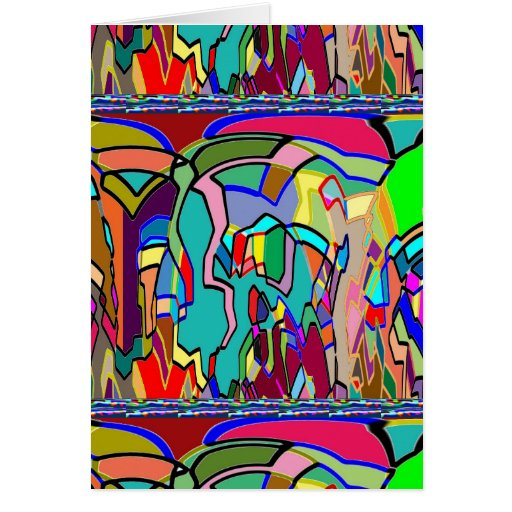 KIDS party giveaway GIFTS Colorful Abstract Art Greeting Card