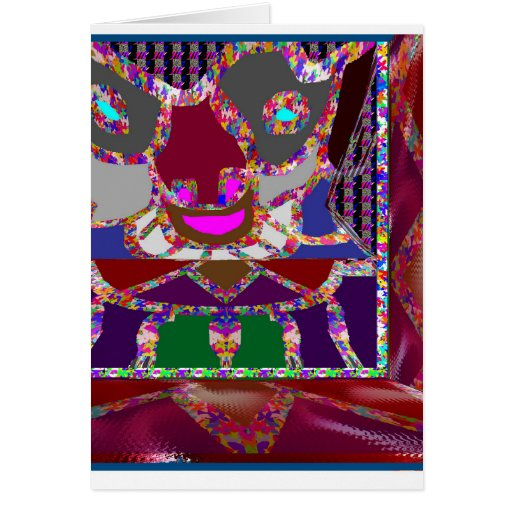 KIDS party giveaway GIFTS Colorful Abstract Art Card