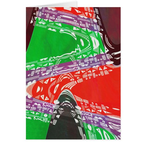 KIDS party giveaway GIFTS Colorful Abstract Art Greeting Cards