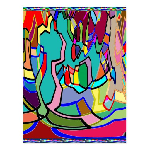 KIDS party giveaway GIFTS Colorful Abstract Art Post Cards