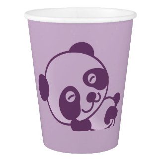 Kids Party Lilac Panda Paper Cup