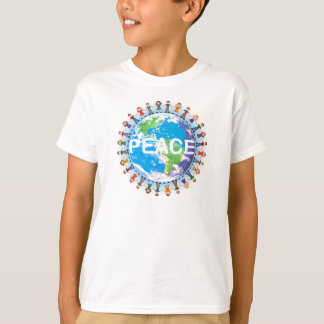 Kids Peace T-Shirt - Children Holding Hands Globe