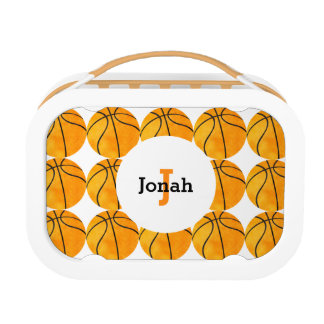 Kids Personalized Basketball Pattern Sports Cute Lunch Box