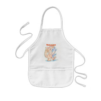 Kid's Personalized Cat and Fish Apron
