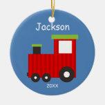 Kids Personalized Christmas Train Ornament