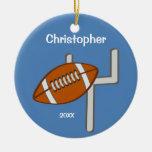Kids Personalized Football Keepsake Christmas Tree Ornament