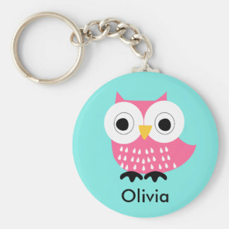 Kids Personalized Owl Key Chain