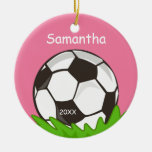 Kids Personalized Soccer Ball Pink