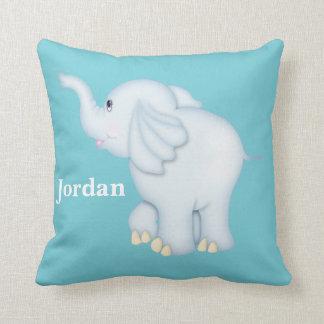 Kid's Pillow Cute Blue Baby Elephant