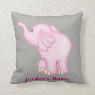 Kid's Pillow Cute Pink Baby Elephant