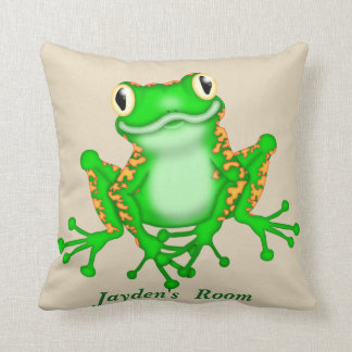 Kid's Pillow Cute Tree Frog