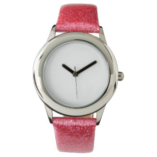 Kid's Pink Glitter Strap Watch