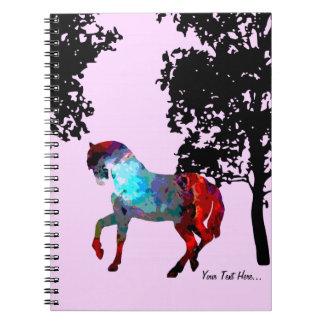Kids Pink Horse Spiral Notebook
